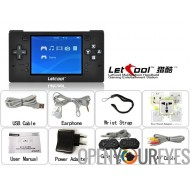 Letcool N350JP Pocket retrogame Free Video Games Console + 2 manette de jeu inclus