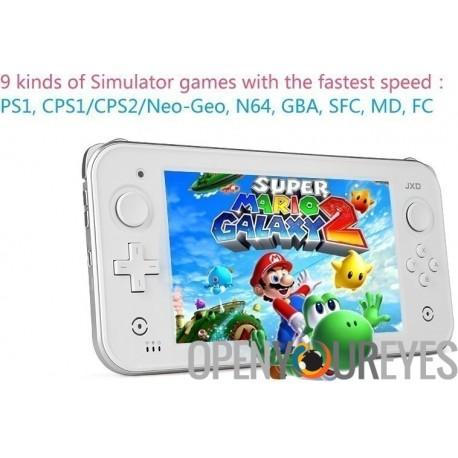 JXD S7300 Dual Core Tablette HD écran tactile rétro console de jeux Déverrouiller Enracinée Android 4 Jeux gratuits Retroaming