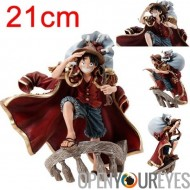 One Piece Action figure Singe D Luffy Rufy 21cm de couleur de main