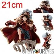 One Piece Action figure Singe D Luffy Rufy 21cm de couleur de main