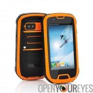 Quad Core Android Smartphone Téléphone portable étanche antichoc Quadribande GSM couleur orange