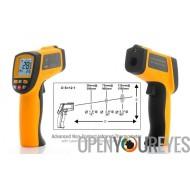 Thermomètre infrarouge avancé sans Contact - Ciblage de laser et ajustement d'émissivité