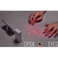 "Laser Projection clavier sans fil ""Keybeam"" - Bluetooth, batterie intégrée, fonctionne avec Android, Windows, Mac et iOS"