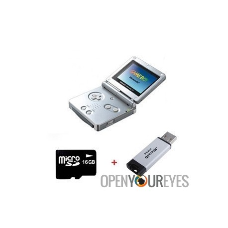 Key 1 GBA Consolle Edition limitée compatibilité jeux Nintendo + Sac Antichoc + Cable TV + Micro SD 4 Gb
