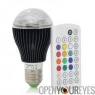 Ampoule LED Changement de couleur écologique d'économie d'énergie - 9 Watt 420 lumens 2 millions de couleurs avec télécommande