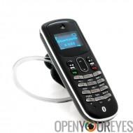 Oreillette Bluetooth avec le téléphone intégré - MiniPhone carte Sim - station de recharge portable - Appel et SMS Fonction