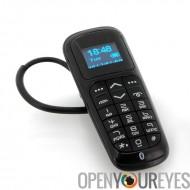 Oreillette Bluetooth avec clavier intégré - Casque sans fil audio de charge via USB