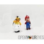Keychain Nintendo Super Mario Bros Wii U jeu Actionfigure PVC Vinyl Figure Manga - Bundle 6