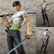 One Piece Zoro Roronoa POP Portrait of Pirates 21cm Figure 10th anniversaire Limited Edition