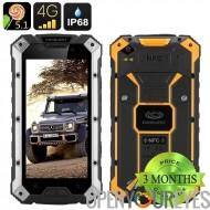 Conquête S6 2GEN Smartphone Android robuste - 4G, écran 5 pouces 1280 x 720, 6000mAH batterie, NFC, OTG, 3 Go de RAM (argent /