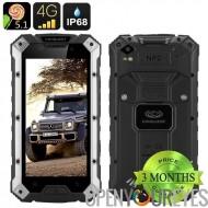 Conquête S6 Pro robuste Smartphone - écran de 5 pouces, 4G, Android 5.1, 3 Go de RAM, 6000mAh batterie, Bluetooth 4.0, NFC (Sil