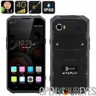 KEN XIN DA PROOFINGS W9 robuste Android-Smartphone 4 g, 5.1, 6 pouces écran FHD, IP68, double carte SIM, 2Go de RAM + 16 Go de
