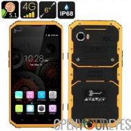 HK entrepôt KEN XIN DA PROOFINGS W9 robuste Smartphone - écran de 6 pouces FHD, IP68, Dual SIM, 4G, geste télédétection (jaune)