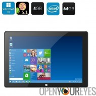 Windows 10 + 5.1 Android Tablet PC - écran de 10,1 pouces, Cherry Trail CPU, 4 Go de RAM, 64Go Memeory, avant + arrière caméra