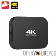 A400 H3 4K Quad Core TV-Box - AllWinner H3 1.2GHz CPU, RAM 1Go, OTG, Miracast, DLNA, Airplay, SD Card Slot, 4.4 Android