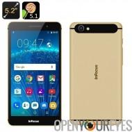 InFocus M560 Android Smartphone 5,1 - 5,2 pouces 1080p écran, Octa CPU Core, 2Go de RAM, 128GB stockage de carte SD, 4G (or)