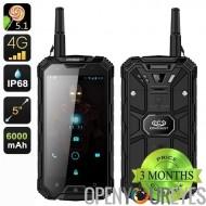 Conquête S8 Pro robuste Smartphone - écran de 5 pouces, IP68, 4G, GPS, boussole, GPS, IR, talkie walkie, 13Мп appareil photo (n