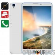 3G de 8 pouces Tablet PC - CPU Quad Core, 1 Go de RAM, Dual SIM fentes, OTG, écran HD, 4.4 Android