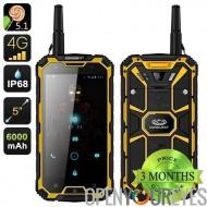 Conquête S8 Pro robuste Smartphone - IP68, écran de 5 pouces Gorilla verre 4, 4G, GPS, IR, talkie walkie, 13Мп caméra (jaune)