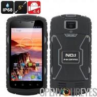 N ° 1 X1 Smartphone robuste - IP68 Rating, écran 5 pouces IPS, 5MP + 13Мп double caméra, GPS, batterie de 3300mAh, OS Android (