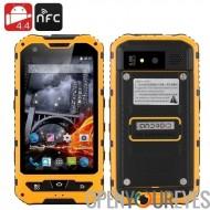 4 pouces imperméable robuste Smartphone - Android 4.4, Quad Core CPU, IP67, 1Go de RAM + 8GB ROM, Dual SIM (jaune)