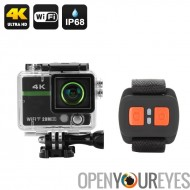 Ultra HD 4K Action Camera « Clarion » - 20MP, 170 degrés lentille, DVR enregistrement en boucle, poignet télécommande, connexio
