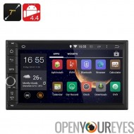 7 pouces Android 4.4 voiture Media Player - 2DIN raccord, 3G, Bluetooth, WiFi, GPS, RK3066 1 .6GHz CPU, 1 Go de RAM
