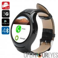 N ° 1 D5 Android Smart Watch - Wi-Fi, 3G SIM, BT4.0, Google jeu, GPS, cœur taux, podomètre, baromètre (noir)