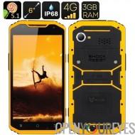 MFOX A10 militaire Pro Smartphone Standard - IP68, écran de 6 pouces, Octa processeur 1,7 GHz, 3 Go de RAM, MIL-STD - 810G, 4G,