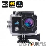 Wi-Fi 4K imperméable à l'eau de sport caméra d'Action - 4K Ultra HD, 16MP, 2 pouces LCD, sortie HDMI, Grand Angle de 170 degrés