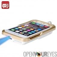 Mini projecteur DLP « iBeam i60 + » - projecteur pour iPhone 6, Plus 6, 6 s, 854 x 480 de résolution, 80 Lumen, batterie de 240