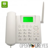 Téléphone de bureau GSM quadri-bande sans fil - écran LCD de 2,4 pouces, batterie Rechargeable, identification de l'appelant, b