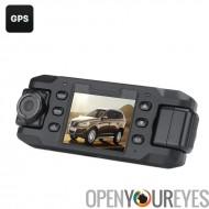 Lentille de 140 degrés III Carcam voiture DVR - 2 x 180 degré rotatif caméras, écran LCD de 2 pouces, G-Sensor, GPS, détection