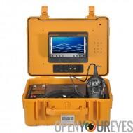 Caméra sous-marin pour pêche - 360 degrés, 1/3 pouce Sony CCD, 600TVL, télécommande, écran couleur 7 pouces