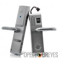Serrure de porte biométrique d'empreintes digitales « Aegis » - pêne dormant, droit remis Installation