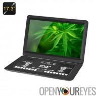 17,3 pouces lecteur de DVD - résolution 1366 x 1280, format 16:9, antichoc, jeu, Radio, TV, fonction de copie