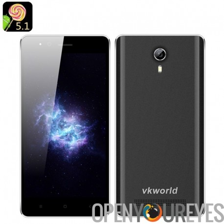 VKWorld F1 Android 5.1 Smartphone – CPU Quad Core, Dual SIM, Bluetooth 4.0, Smart suite, écran de 4,5 pouces IPS (noir)