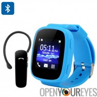 Ken Xin Da S7 GSM Smart Watch - 1,54 pouces, Bluetooth, Heart Rate Monitor, SMS synchronisation, FM Radio à écran tactile (bleu