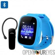 Ken Xin Da S7 GSM Smart Watch - 1,54 pouces, Bluetooth, Heart Rate Monitor, SMS synchronisation, FM Radio à écran tactile (bleu