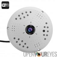 360 degrés Fisheye IP caméra - 3 mégapixels CMOS 1/2.5 pouces, Support ONVIF, WIFI, P2P, POE, lecture à distance
