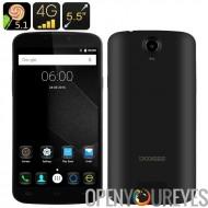DOOGEE X 6 Pro Smartphone - écran HD 5.5 pouces, Android 5.1, 4G, 2 Go de RAM + 16GB ROM, Smart Wake, geste de télédétection (n