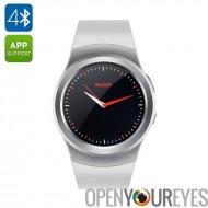 N ° 1 G3 Smart Watch - BT4.0, Slot SIM GSM, moniteur de fréquence cardiaque, podomètre, Anti perdu, iOS + Android App (argent)