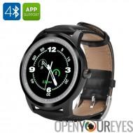 Déclencheur à distance Smartwatch - 1,3 pouces écran, étanche IP57, podomètre, fréquence cardiaque, musique, IMACWEAR Q1 (noir)
