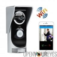Une connexion Wi-Fi vidéo interphone de porte et la sonnette de la porte - 1/3 de pouce CMOS, APP Support, détection de mouveme