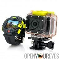 Caméra d'Action HD complet «Proie» avec une connexion Wi-Fi et montre télécommande - 1920x1080p, capteur Panasonic, lentille