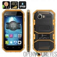Ken Xin Da W6 Smartphone robuste - IP68 imperméable à l'eau, poussière, preuve de choc, 4G, Android 5.1, Dual SIM, Quad Core (j