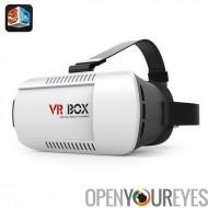 VR boîte vidéo lunettes 3D - 4,7 à 6 pouces IOS et Android Smartphone, Distance interpupillaire réglable + Focus