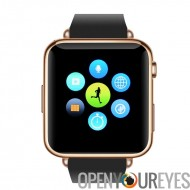 Bluetooth Smartwatch - Slot pour carte SIM GSM, service TéléRéponse, annuaire téléphonique, messagerie SMS, 32 GB Micro SD Slot