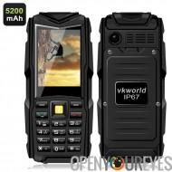 VKworld Stone V3 GSM téléphone - 2.4 pouces écran, 5200mAh batterie, Power Bank, Bluetooth, IP67 étanche Rating (noir)