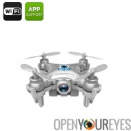 CX-10W Mini Drone - 6 – stabilisation gyroscopique, 0.3MP caméra, Wi-Fi, 15 à 30 M plage, Android & iOS Compatible, FPV
